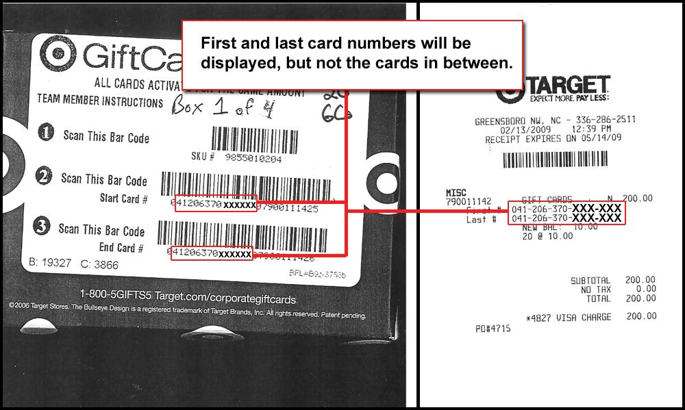 target visa gift card activation