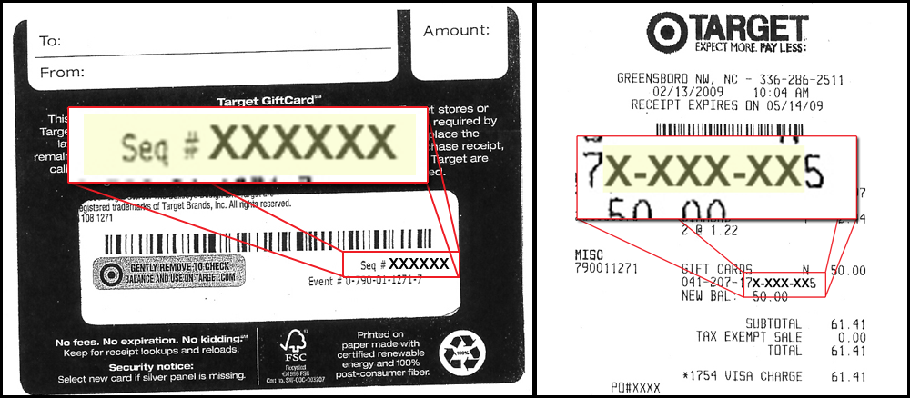 Gift Card Numbers Procurement Services